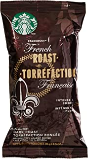 Starbucks SBK11018194 French Roast Single Pot Portions Premium Ground Coffee Packets, Dark (Pack of 18)
