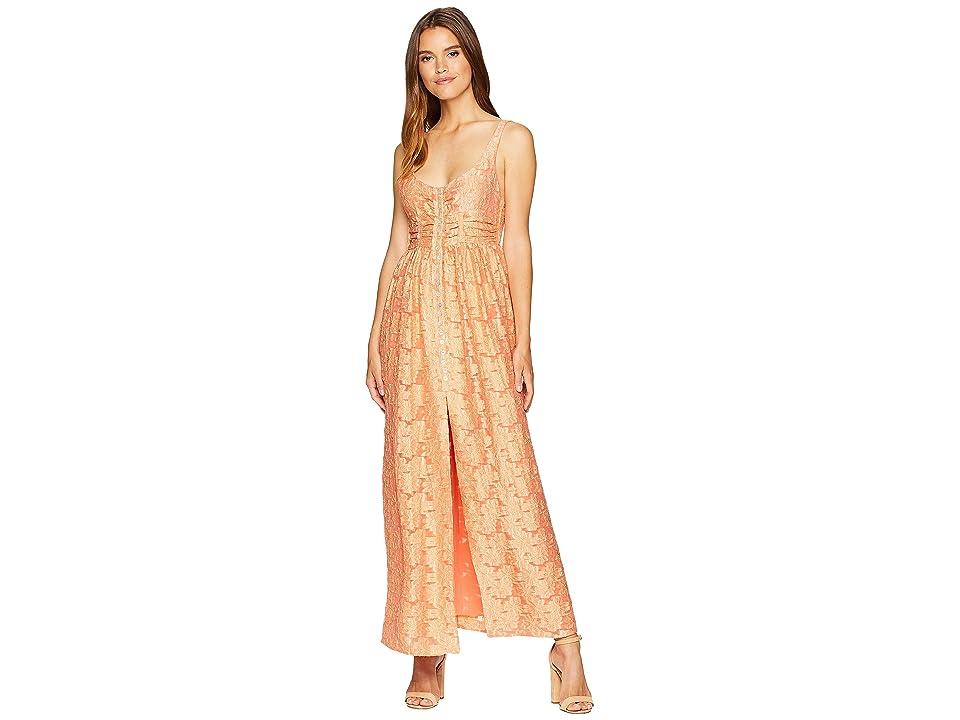 Free People Fresh as a Daisy Maxi Dress (Peach) Women