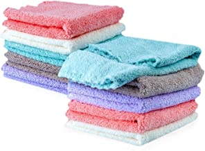 Kyapoo Baby Washcloths 10 Pack 12×12 Inches Microfiber Coral Fleece Extra Absorbent..