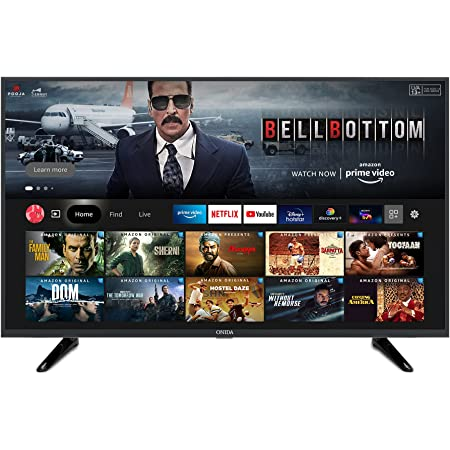 Onida 108 cm (43 inches) Full HD Smart LED Fire TV 43FIF1 (Black) (2021 Model) | Voice Remote with Alexa