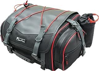 タナックス(TANAX) motofizz モトフィズ ミニフィールド シートバッグ [19⇔27リットル] ブラック 【赤パイピング仕様】 MFK-100R3