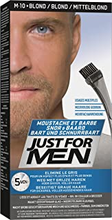 Just For Men M10 Sandy Blond mustache and beard brush in hair gel