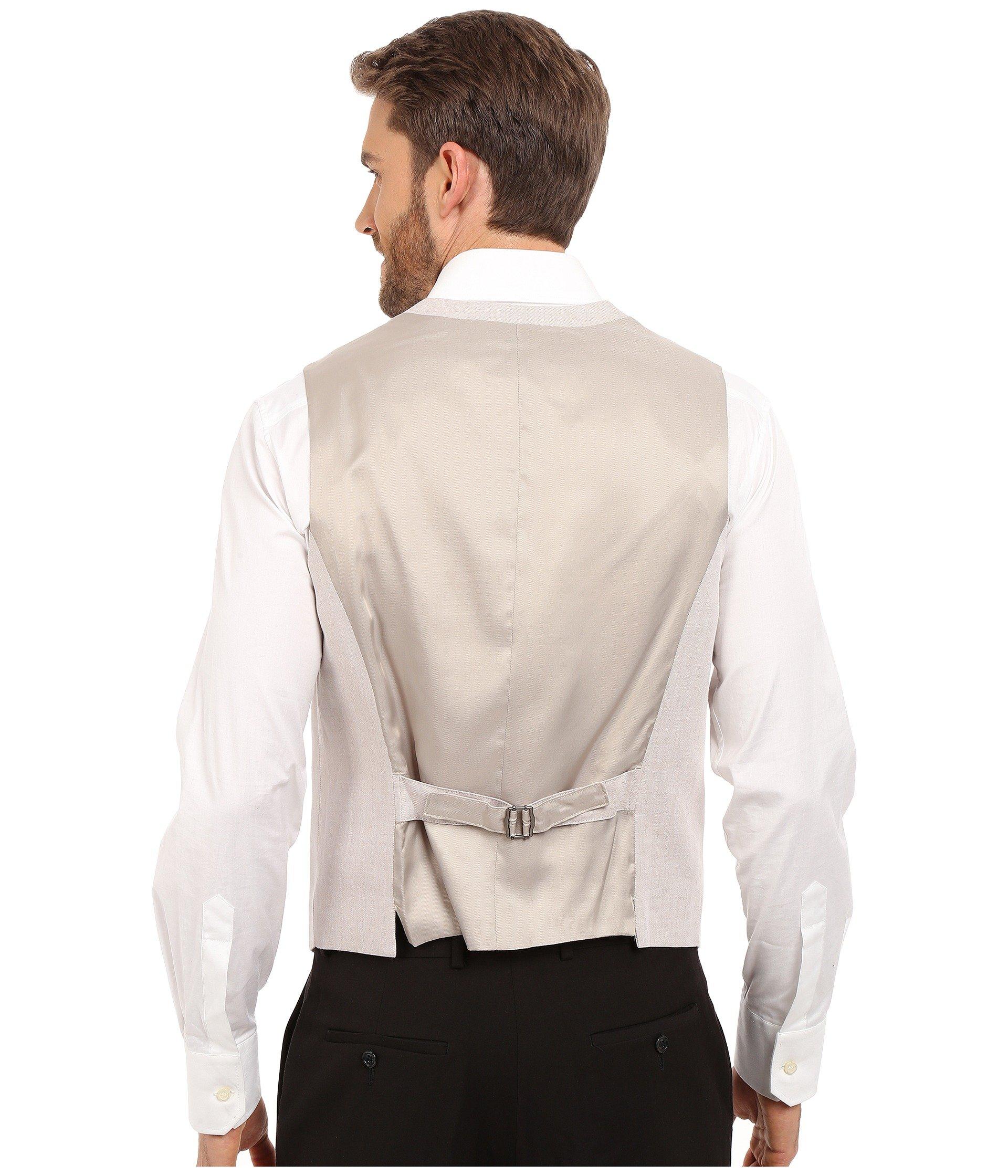 Linen Vest Suit Ellis Perry Natural qagOOU