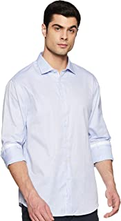 Celio Men's Solid Regular fit Casual Shirt (3596655151107_Light Blue_M)