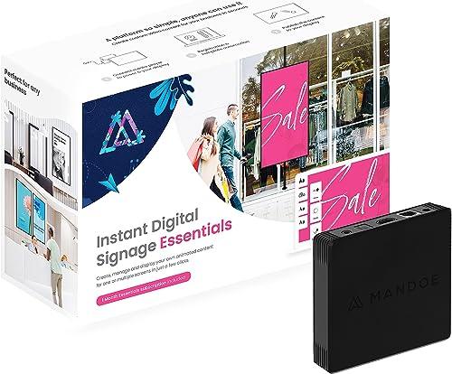Mandoe - DIY Instant Digital Signage   Media Player + Beautiful Content Creation Software - Essentials