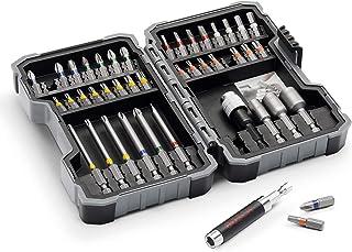 "Bosch Professional 43-Piece Extra Hard Screwdriver Bit and Nutsetter Set (1/4"" Hexagonal Shank, Drill Driver Accessories, ..."