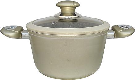 Callaway Olla de Aluminio Forjado, mármol, 24 cm, Champagne