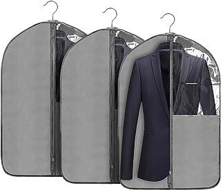 Housses de Vêtements, 3 pcs Housse de Costume, Housse Costume avec Zip et Anti-poussière Protection pour Protege Chemise, ...