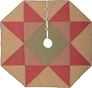 VHC Brands Holiday Decor - Dolly Star Tan Tree Skirt, 48