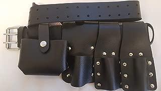 BBI Heavy Duty Scaffolding Black Leather Work Tools Belt