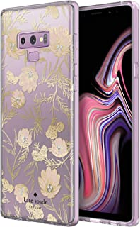 kate spade new york Protective Hardshell Case for Samsung Galaxy Note9 - Blossom Pink/Gold with Gems
