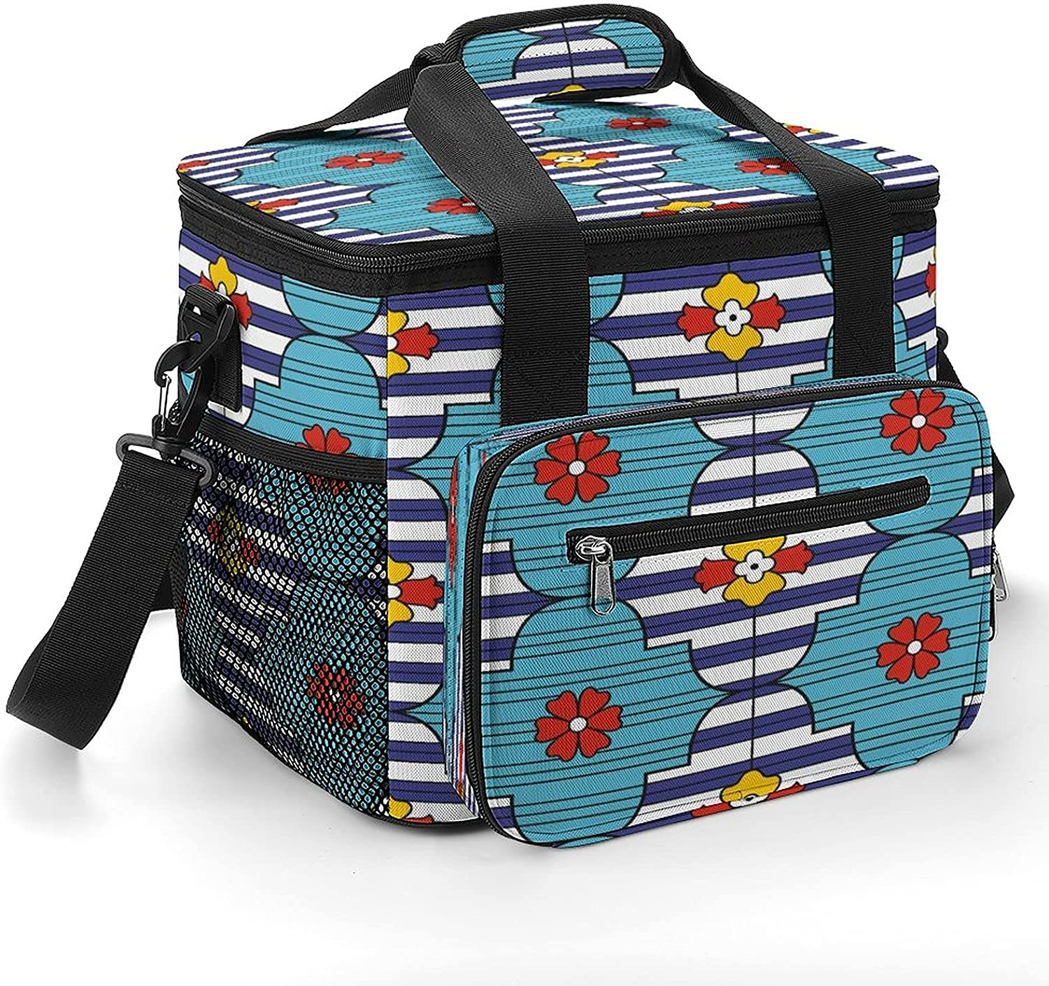 Bombing free shipping Beautiful Flower Excellence Combination Pattern 2 Bag Shoulder with Cooler