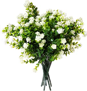Red Co. Faux Floral Bouquet, Artificial Fake Greenery Flowers for Home and Outdoor Garden Decor, 6 Single Picks, Off White…