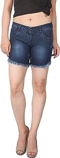 FCK-3 Women Silky Stretchable Mild Washed Denim Hot Short
