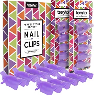 Teenitor Acrylic Nail Polish Remover Clips, 20 Pieces Reusable Toenail and Finger Gel Nail Polish Remover Clips, Fit For N...