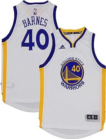 Amazon.com: Harrison Barnes Golden State Warriors #40 White Youth ...