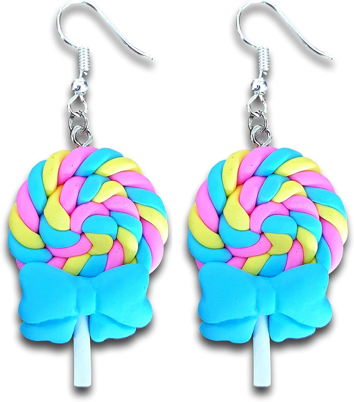 Fun Earrings Candy Earrings Polymer Clay Lollipop Earrings Lollipop Earrings Kid Jewelry Stocking Stuffers - Lollipop Jewelry