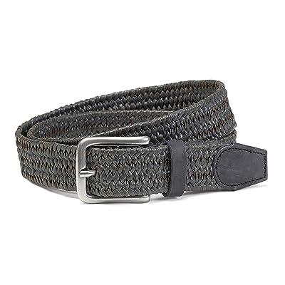Trask Falcon Belt (Gray Braided Italian Steer) Men