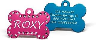 Providence Engraving Custom Engraved Pet ID Tags with Swarovski Crystal - 1.5