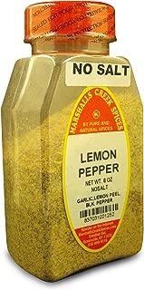 Marshalls Creek Kosher Spices, (st07), LEMON PEPPER SEASONING NO SALT 8 oz