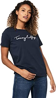TOMMY HILFIGER Women's Aila Crew Neck Short Sleeve Logo T-Shirt