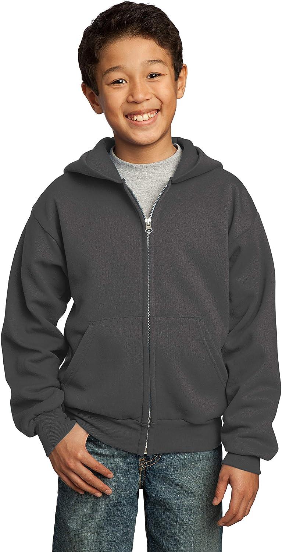 INK STITCH Youth Boys and GirlsCore Fleece Full-Zip Hooded Sweatshirts - Multi Colors