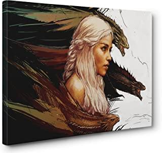 Game Of Thrones Daenerys Gallery Canvas Wall Art Print (Ready To Hang) (24x36in.)