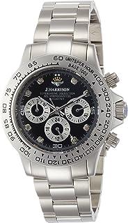 [ジョン・ハリソン]J.harrison 腕時計8石天然ダイヤモンド付多機能自動巻&手巻き腕時計 JH-014DS メンズ 【正規輸入品】