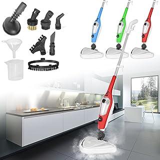 Ballino Mopa portátil Multiusos 11 en 1 para Limpieza de Pisos y Ventanas, tapicería, Cocina, Horno y Chorro de Vapor Vertical (Verde), Estándar