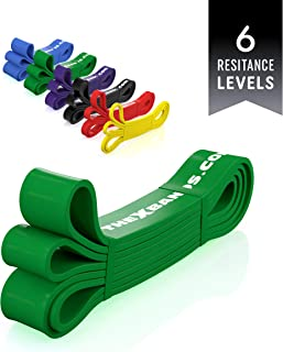 The x Bands Long Resistance Bands - Squat Bands - Booty Band - Pull Up Bands - Loop Bands - Fitness Bands Resistance Long - Rubber Resistance Bands - Extra Strong Resistance Bands - 50 Lb Black