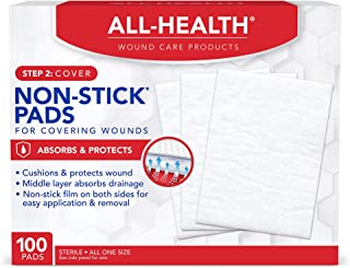 All Health Non-Stick Pads, 100 Pads, 3\X 4\   for Covering & Protecting Wounds