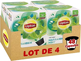 Lipton Thé Vert Marrakech Menthe, Capsules Compatibles Nescafé Dolce Gusto, Label Rainforest Alliance 48 Capsules (Lot de ...