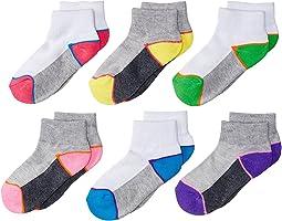 Jefferies Socks - Sport Mesh Upper Quarter Socks 6-Pair Pack (Toddler/Little Kid/Big Kid)