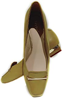 hype Latest Collection, Comfortable & Fashionable Bellies, Designer Bellies with Block Heel for Women's & Girls.(Genuine Leather)