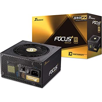 Seasonic FOCUS Plus 650 Gold SSR-650FX 650W 80+ Gold ATX12V & EPS12V Full Modular 120mm FDB Fan Compact 140mm Size Power Supply, Gold Modular FX