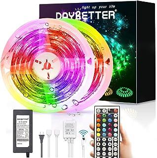Led Strip Lights Waterproof, DAYBETTER 32.8ft LED Tape Lights Color Changing LEDs Light Strips...