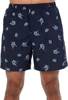 Columbia Sportswear Men's Backcast II Printed Shorts, Collegiate Navy Marlin, X-Large/6