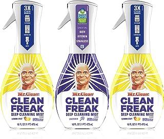 Mr. Clean, Clean Freak Deep Cleaning Mist Multi-Surface Spray, Lavender and Lemon Zest Scent Starter Kit Bundle Pack, 3 Co...