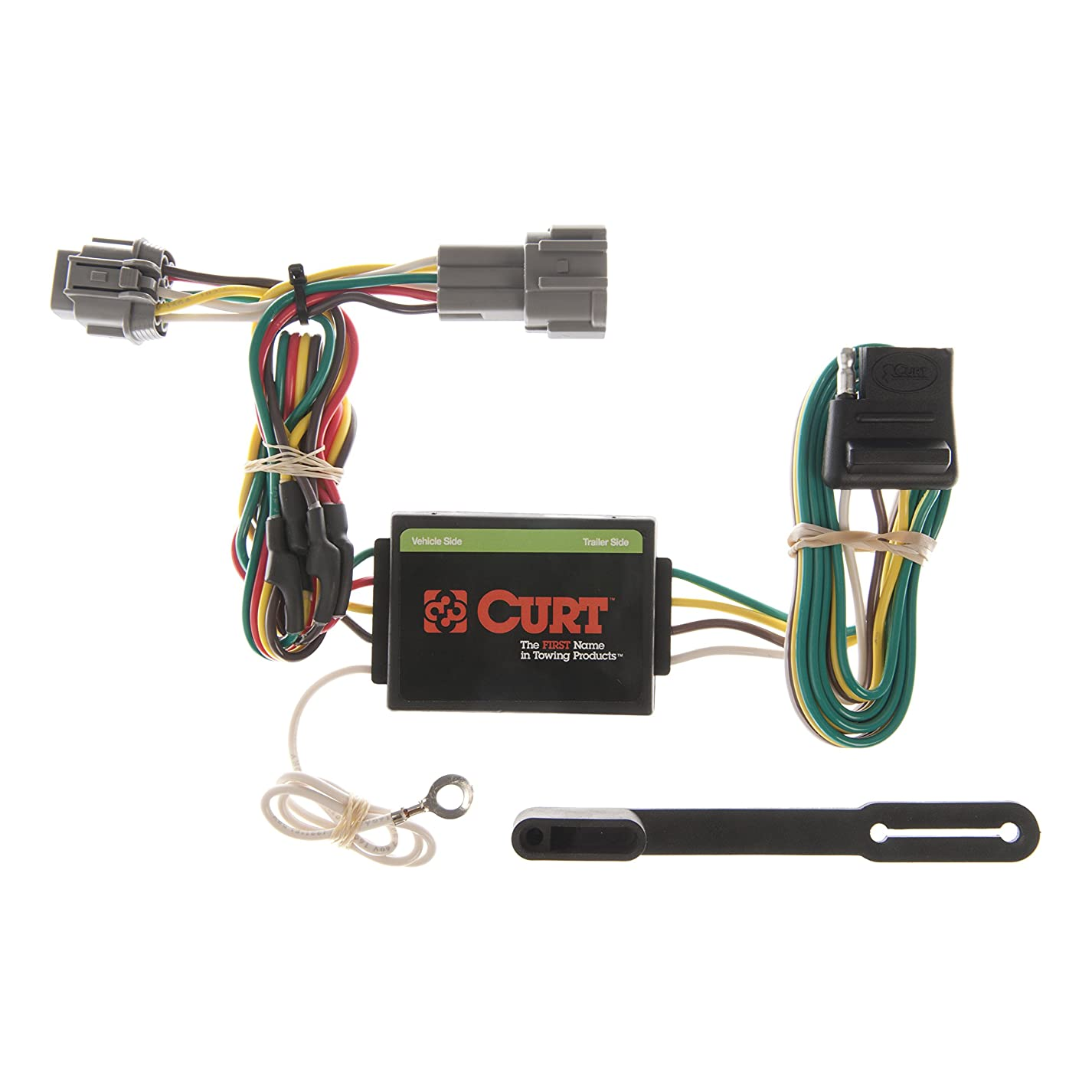 CURT 55362 Vehicle-Side Custom 4-Pin Trailer Wiring Harness for Select Nissan Frontier, Quest, Mercury Villager bsc631537568806