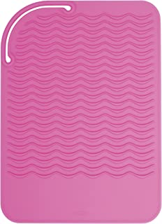 OXO Good Grips Heat Resistant Silicone Travel Mat for Curling Irons and Flat Irons,Pink