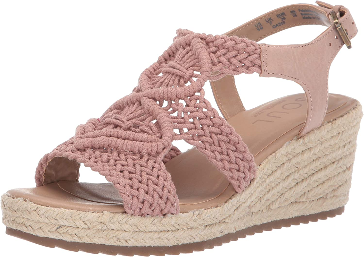 Natural Soul Womens Oasis Wedge Sandal