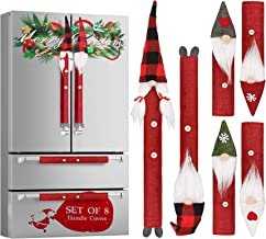 Christmas Gnome Refrigerator Handle Covers Set of 8, Adorable Swedish Tomte Kitchen Appliance Handle Covers Microwave Oven...