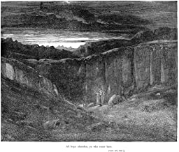 Dante Inferno NAll Hope Abandon Ye Who Enter Here Wood Engraving 1861 After Gustave Dore Poster Print by (24 x 36)