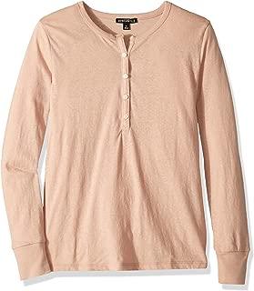 Women's Long-Sleeve Slub Cotton Henley