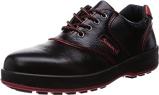 [シモン] 安全靴 短靴 JIS規格 耐滑 快適 SL11-R 黒/赤 黒 24 cm 3E