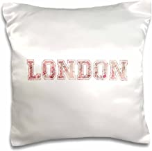 3dRose pc_151386_1 London Word Art Made from Vintage Pink Red Map of England Capital City..