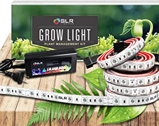 SLR 5pc LED Grow Light 20 Inch Strips Kit for Indoor Plants, Gardens, Greenhouses, Vegetables, Herbs, Flowers with 250 Red & 50 Blue for Hydroponics and Horticulture [Full Kit w/Plug]