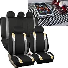 FH Group FH-FB033115 Three Row- Premium Modernistic Seat Covers Beige/Black FH1002 Non-Slip Dash Pad- Fit Most Car, Truck, SUV, or Van