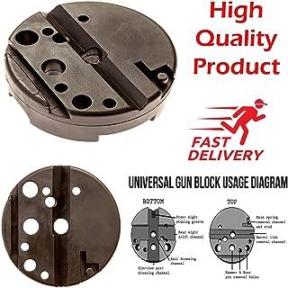 Universal Gunsmithing Bench Block Handgunn Pistol M1911 Ruger 10/22s Style Reassemble Firearm Assembly Bench Block (black)