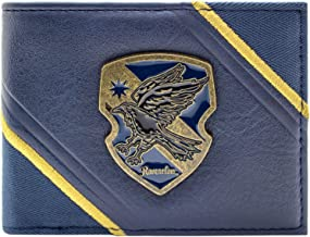 Harry Potter Rowena Ravenclaw Crest Black ID & Card Bi-Fold Wallet